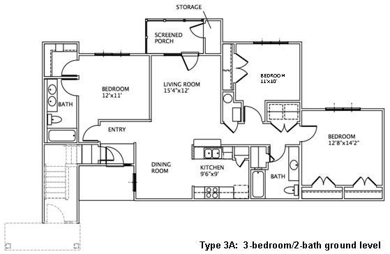 3 Bedroom Floor Plans May River Village
